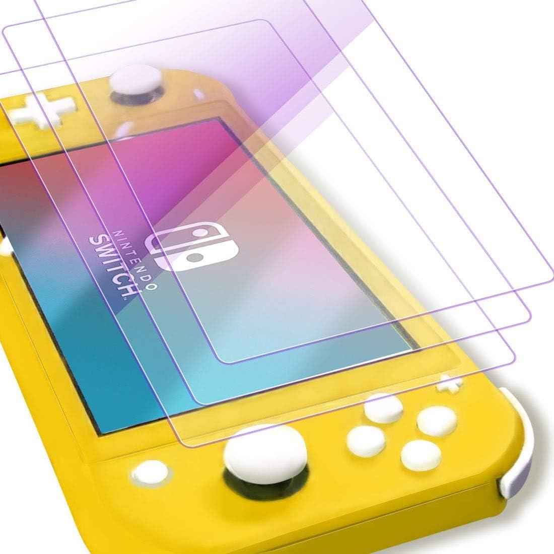 Protector de pantalla de cristal templado con luz anti-violeta Chinsion para Nintendo Switch Lite (paquete de 3): Amazon.es: Videojuegos