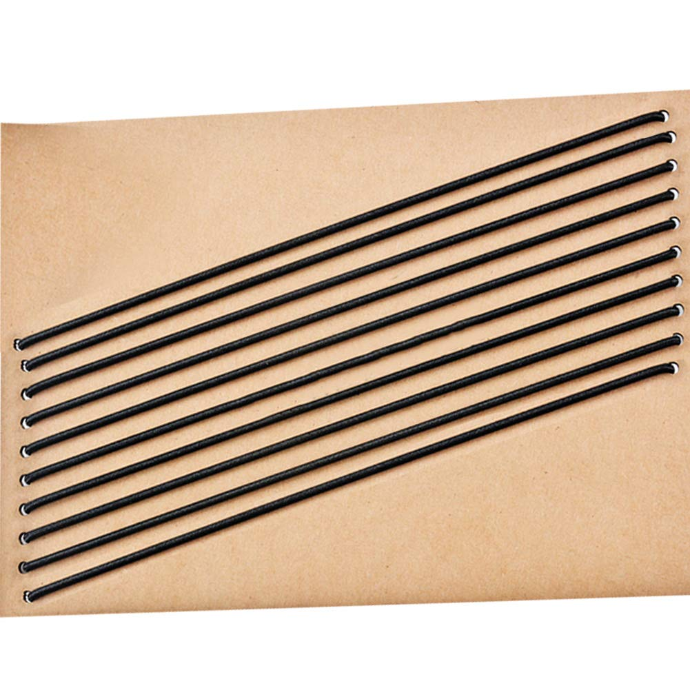 Travelers notebook fasce elastiche, 10pezzi in pelle Journal refill collegamento Band cinghie sostituzioni, chiusura alta bande per collegare inserti, misura standard pveath