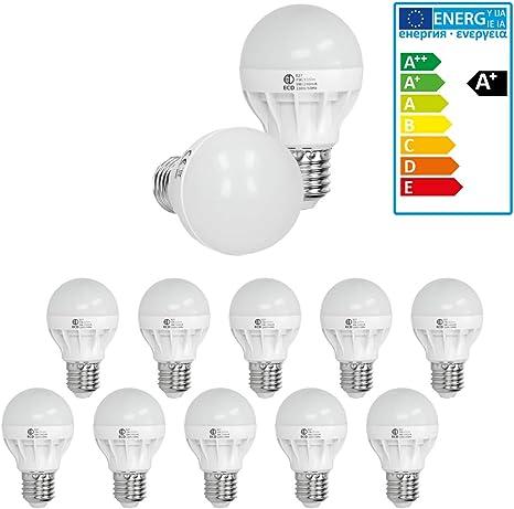 3er Set 9,5 Watt LED Leuchtmittel E27 Lampen Glüh Birne Leuchten 2800K EEK A+