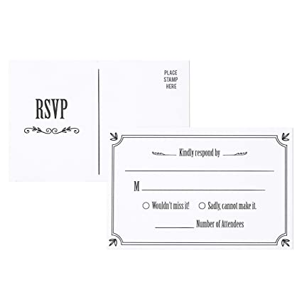 Wedding Response Cards.Rsvp Cards 50 Pack Rsvp Postcards Response Card Wedding Return Cards Rsvp Reply For Wedding Engagement Party And Party Invitation Postage