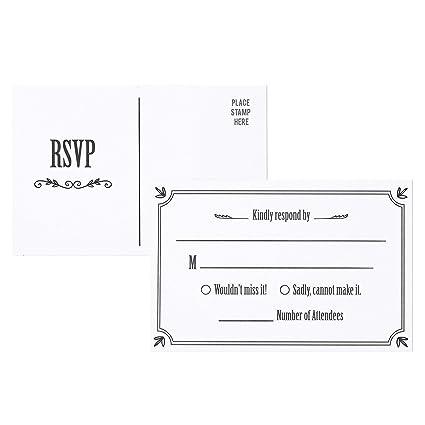 Rsvp Cards Wedding | Amazon Com Rsvp Cards 50 Pack Rsvp Postcards Response Card