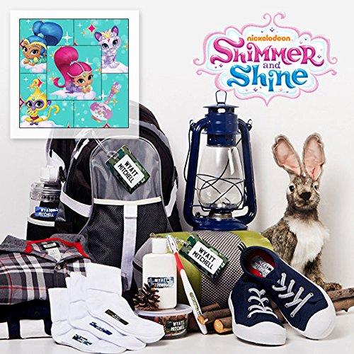Grande Shinetm Imperméable Mini À Protégés Étiquettes Bubble Personnalisé Enfants Pour Girls Adhésifs And Iron Shimmer ons Inclus Camp Linge Sac Guppiestm Et KZAqA71XO