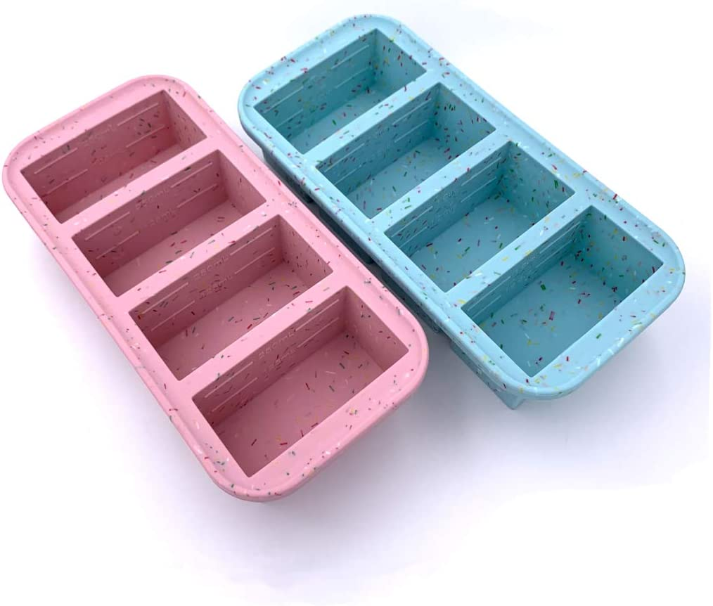 Sprinkles Edition Souper Cubes 1-Cup Freezing Tray with lid, Pack of 2, makes 8 perfect 1 cup portions, freeze soup, stew, chili