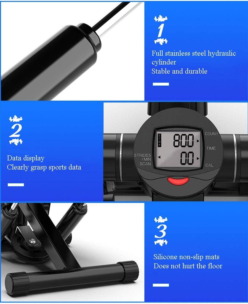 Nero Attrezzi Step Palestra Casa Step Fitness con Corde di Resistenza e Multifunzione Display Stepper Fitness Casa Carico Macchine per Training Aerobico 150KG