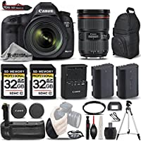 Canon EOS 5D Mark III DSLR 22.3MP Full HD 1080p + Canon 24-70mm f/2.8L II USM Lens + Battery Grip + Backup Battery + 2 Of 32GB Memory Card. All Original Accessories Included - International Version