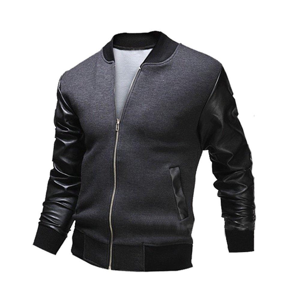 Amazon.com: 2019 😊Men Casual Jackets,Boys Autumn Winter Slim Collar Tops (M, Gray): Electronics