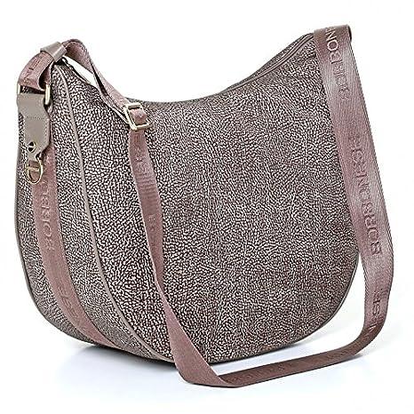 buy popular 9ecdb d3ef2 Borsa a tracolla Borbonese Luna Bag medium in Jet op fango