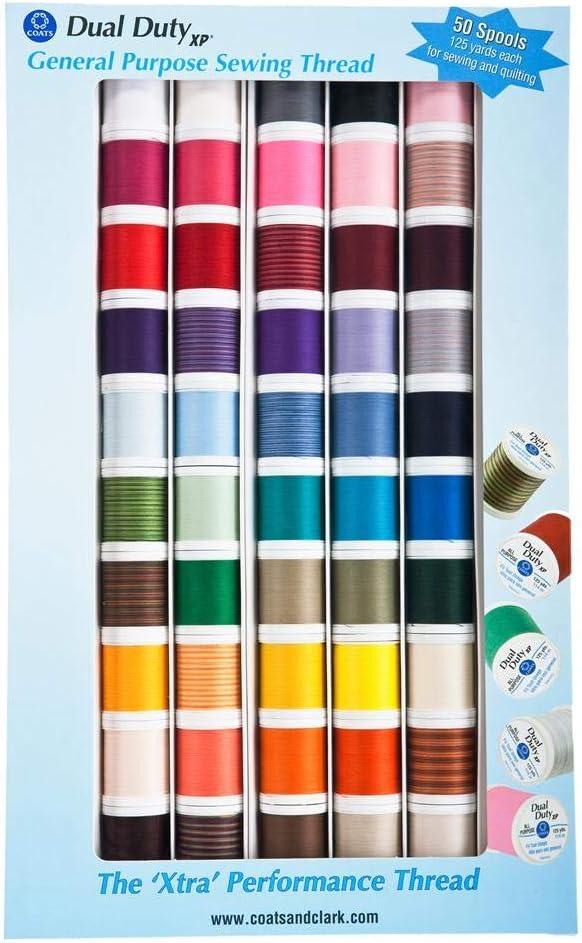 Coats XP All Purpose thread kit 50 Spool Box Assorted