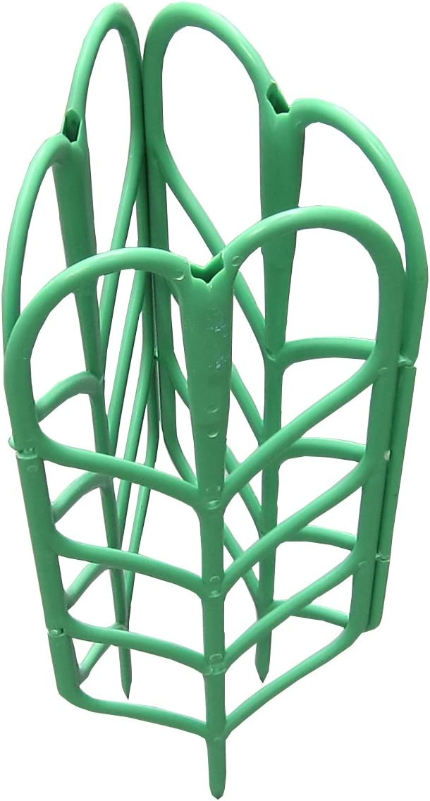 Potted Plant Growing Support 3-Pack, Tomato Cage, 3Piece Fruits and Vegetables Climbing Staking System (8Piece Flexible Adjustable Plant Ties Included) Adjustable Plant Climbing Trellis