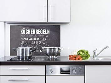 GRAZDesign Fliesenspiegel Küche Küchensprüche - Glasrückwand Küche ...