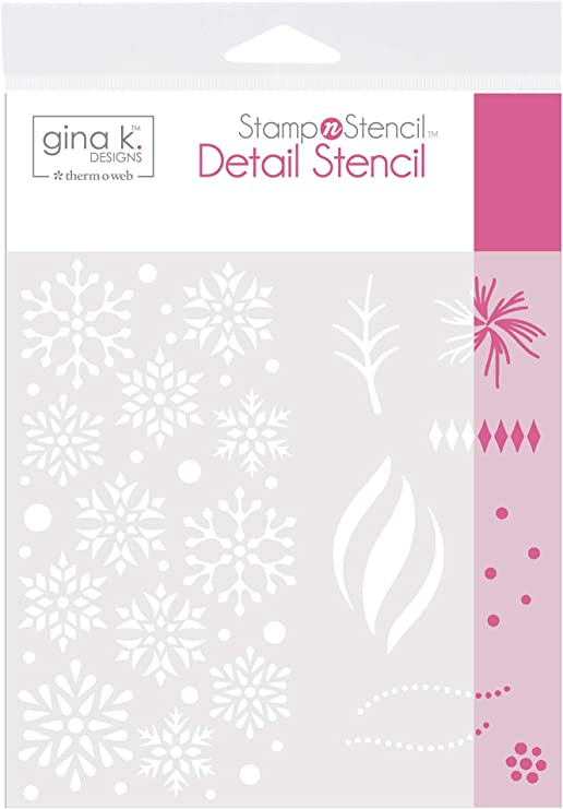 Gina K Detail Stencil Designs for Therm O Web StampnStencil Wishing You Joy