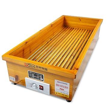 GJM Shop Calentador De Pies Abeto Chino/Madera Calefacción por Infrarrojos Lejanos Tipo Fuego Termostato