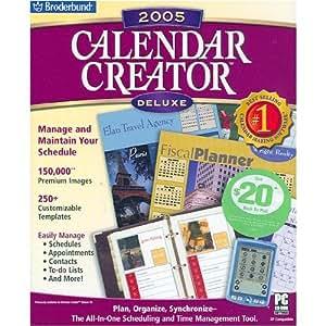 Amazon Com Calendar Creator 2005 Deluxe