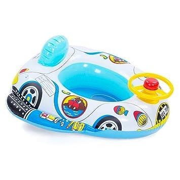QHYK Inflable Bebé Niño Niño Infantil Natación Asiento Float Boat Anillo Raft silla Piscina Juguete (