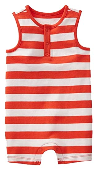 04ddf16c2ac Amazon.com  BabyGap Baby Gap Unisex Orange White Striped Tank Shorts ...