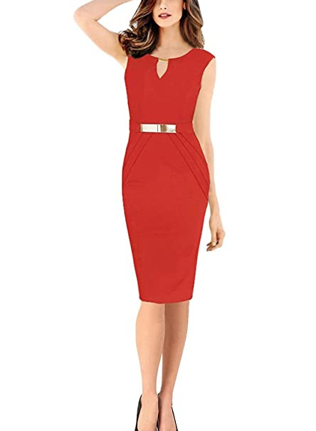 MisShow Womens Wear to Work Gowns Bodycon Business Dress Formal at ...