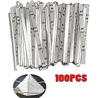 Nose Wire Strip Aluminum Nose Bridge Strips,Metal Nose Bridge Nose Wire Clips for DIY Making Accessories Crafts (100PCS)