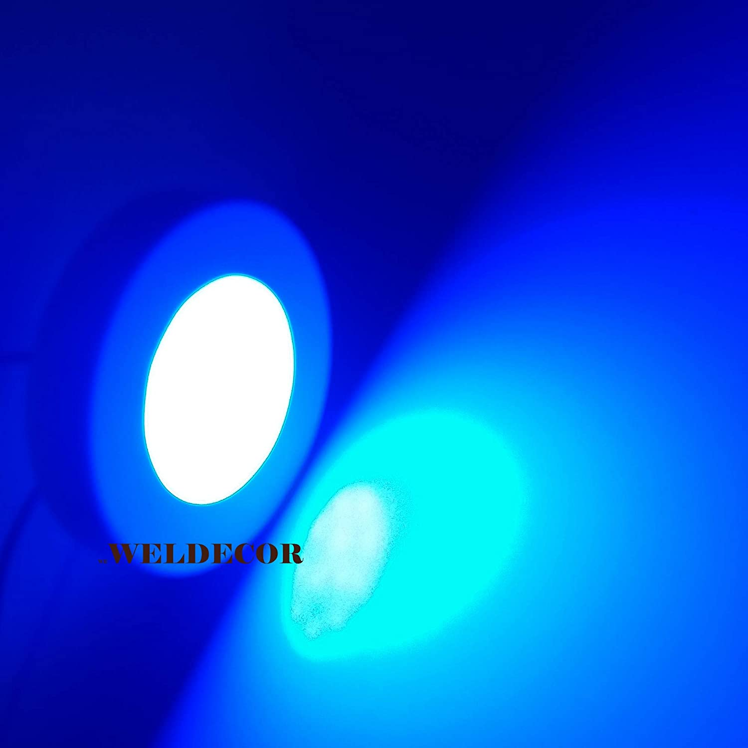 Weldecor 6wt Led Ceiling Light Blue Slim Surface Round Panel For Decoration Amazon In Home Kitchen