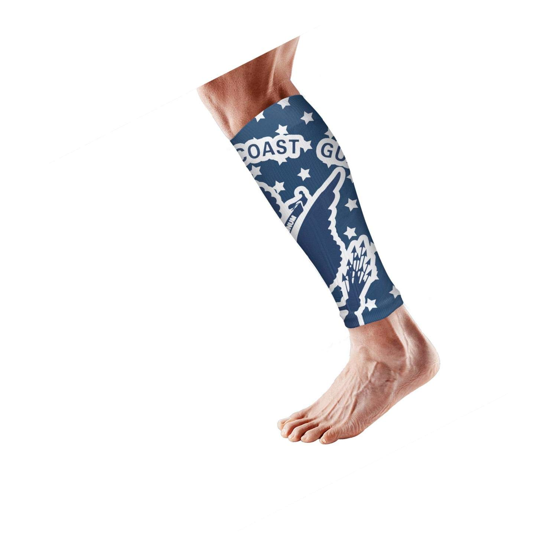 Smilelolly US coast guard USCG Calf Compression Sleeves Helps Shin Splint Leg Sleeves for Men Women