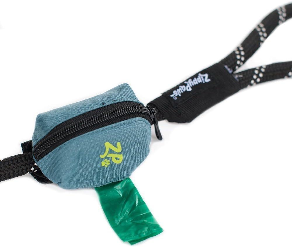 Waste Bag Holder Canvas Poop Bag Holder Pet Leash Clip On Accessory Olive Green