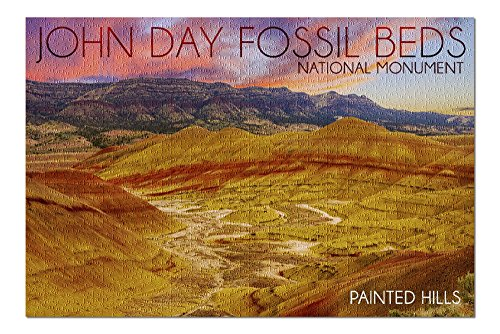 Painted Hills - John Day Fossil Beds (20x30 Premium 1000 Piece Jigsaw Puzzle, Made in USA!)