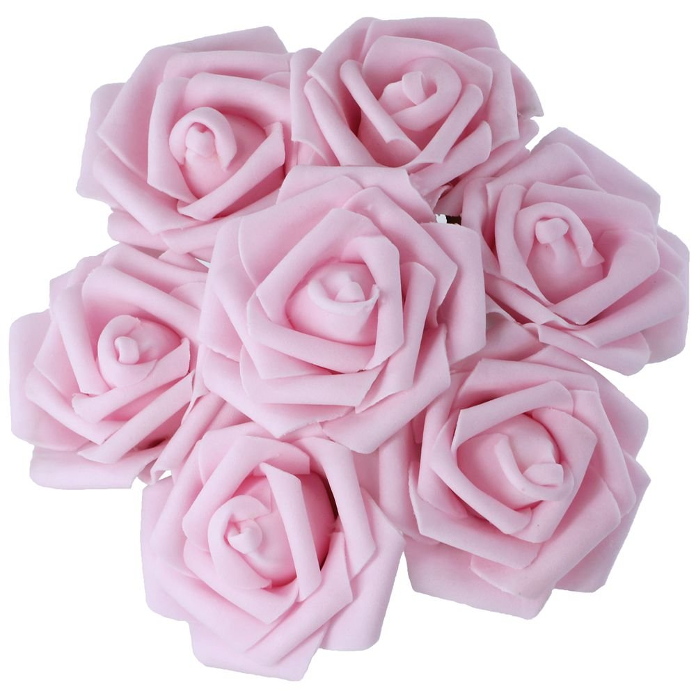 Amazon.com: 50pcs Real touch real Looking PE Foam Pink Artificial ...