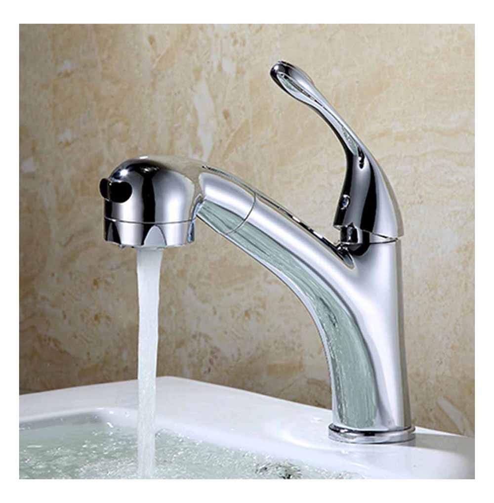 HARDY-YI Water-tap Faucet - Copper Pig Tail Pull Basin Faucet Washbasin Basin Hot And Cold Stretchable Water Tap -184 Faucet