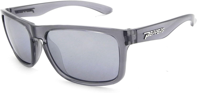 Rubberized Matte Black 55 mm Peppers Beachcomber Polarized Wayfarer Sunglasses