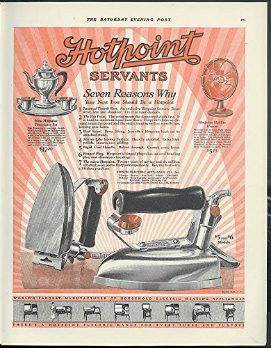 7 reasons why your next iron should be a Hotpoint ad 1925 percolator (Hotpoint Heater)