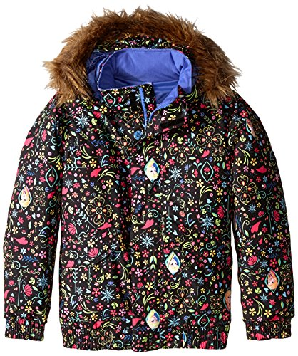 Burton Girl's Twist Bomber Jacket, Elsa/Anna Frozen Print, Medium