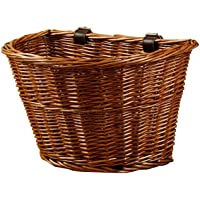 Front Bike Basket Paja para Adultos al Aire