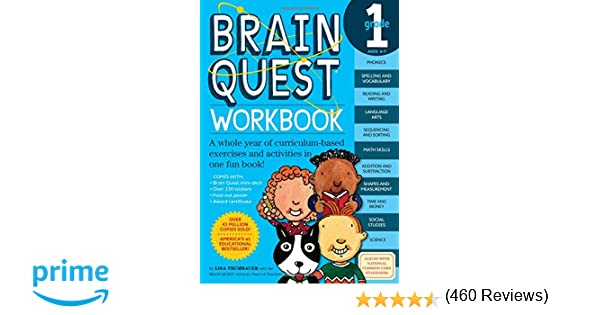 Workbook first grade worksheets pdf : Brain Quest Workbook: Grade 1: Lisa Trumbauer: 9780761149149 ...