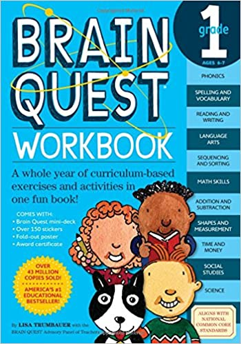 Time Worksheets 2nd grade telling time worksheets : Brain Quest Workbook: Grade 1: Lisa Trumbauer: 9780761149149 ...