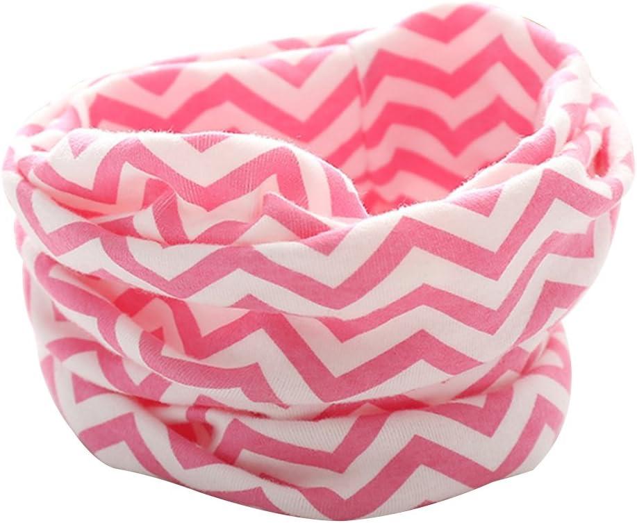 Tangbasi/® strisce bambino ragazze dei loop sciarpa scaldacollo scialle e bambini o anello sciarpa al collo Rose Red taglia unica