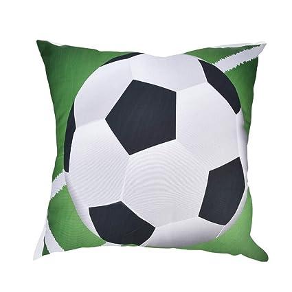 Longra☆ Funda de Almohada de Estampado de Fútbol Funda de ...