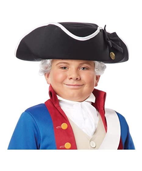 Amazon.com California Costumes Kids Colonial Tricorn HatBlackStandard Clothing  sc 1 st  Amazon.com & Amazon.com: California Costumes Kids Colonial Tricorn HatBlack ...