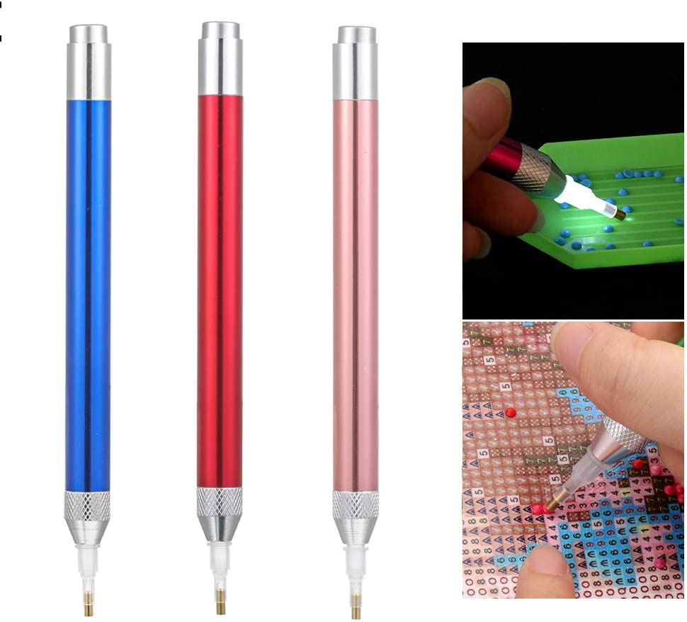 5D Diamond Painting Tools Pens,Nail Art Tools Drill Sticker Picker Pen,Two Self-Stick Drill Pens Beads Picker Crayon Pen.