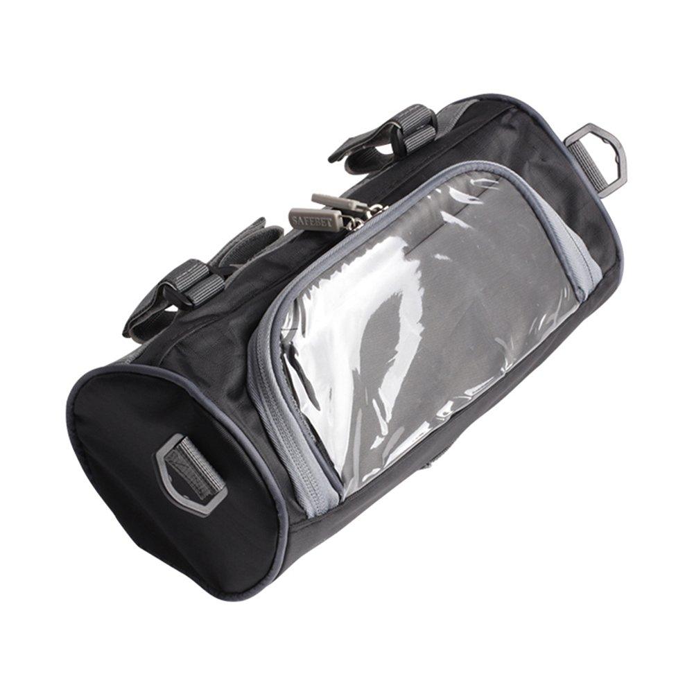 Sac Rangement pour Moto, Petit Sacoche avec Housse Transparente Support de Guidon pour Smartphone/Téléphone Portable/GPS (5,5') pour Moto Motocross U1/N1/N1S Noir Etanche par sweetlife (1pc:2,5L)