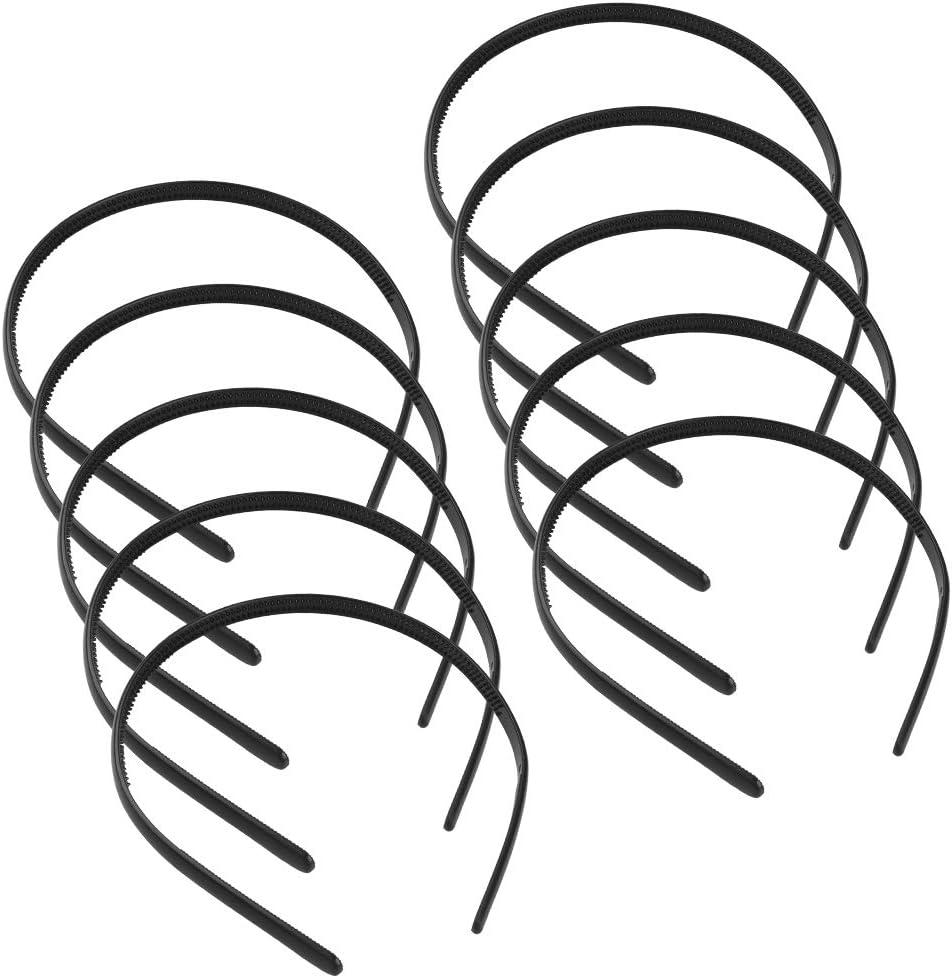36pcs Diadema Plastico Mujer Diadema Plástico Diadema de Pelo de Plástico Negra, Diadema Plana con Dientes Diadema Negra Fina Diadema Plano para Niñas y Mujeres(Negro)