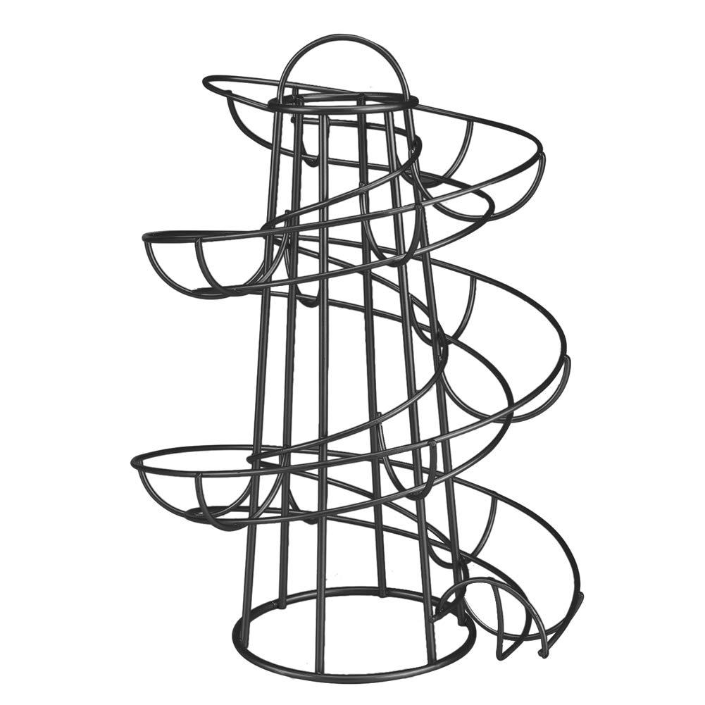 Henreal Modern Spiral Egg Holder Storage Rack Space Saving Kitchen silver