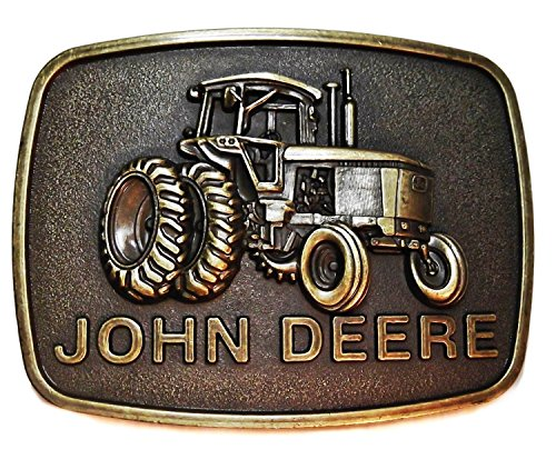John Deere Tractor Logo Antique Bronze Metal Belt - Deere John Buckles
