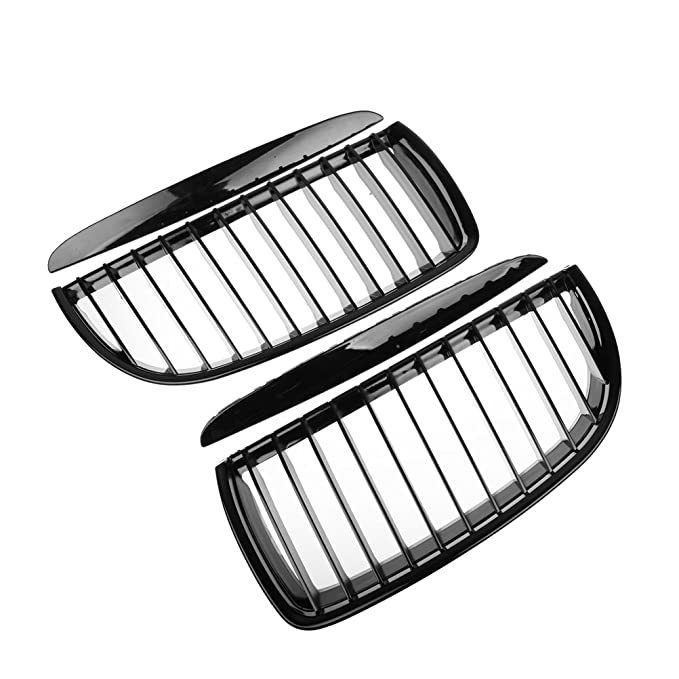 Amazon Com Glossy Black Front Hood Kidney Grille Matching Black