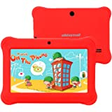 """Alldaymall 7"""" Android Tablet For Kids With Wi-Fi Quad Core and Dual Camera, 8GB, HD Kids Edition w/ iWawa Pre-Installed (A88S with Red Kid-Proof Silicone Case)"""