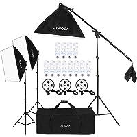 Andoer Softbox Photography Lighting Kit 20″×28″/50x70cm 2400W with 5500K Studio Lights Equipment for Photo Studio Portraits, Product Photography and Video Shooting