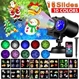 Christmas Projector Lights, LED Projection Light, 2 in 1 Water Wave Projector Light with 16...