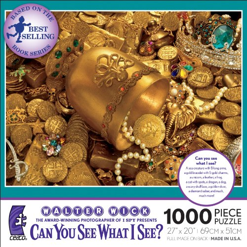 Walter Wick Can You See What I See, The Golden Cup Jigsaw Puzzle, 1000 Piece (Walter The Puppet)
