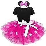 YiZYiF Mädchen Kinder Kostüm Ballettkleid Geburtstag Party Karneval Fasching Cosplay Kostüm Kleid Verkleidung mit Ohren Harreif, 12 Stil