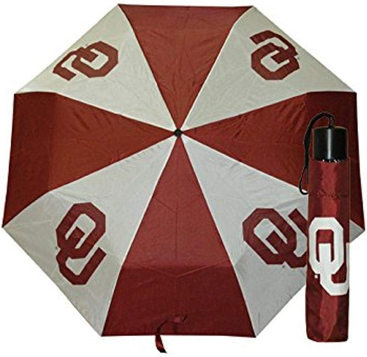 NCAA Oklahoma Sooners Umbrella Folding Wrap Multicolor One Size