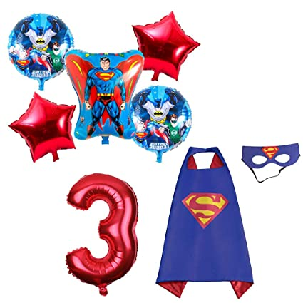 Amazon.com: CuteTrees Super Hero Superman 3er cumpleaños ...