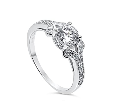 925 Sterling Silver UK Hallmarked 1ct Lab Diamond White Gold Plated Solitaire Wedding Engagement Ladies Ring oacp35905